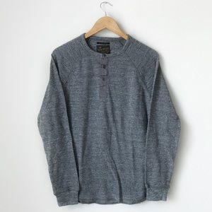 Lucky Brand Gray Long Sleeve Button Up Top